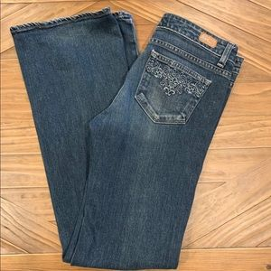 PAIGE 29 Hollywood Hills Bootcut Embroider Jeans